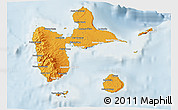 Political Shades 3D Map of Guadeloupe, lighten