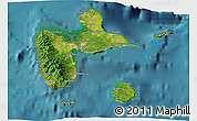 Satellite 3D Map of Guadeloupe