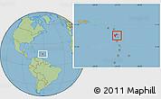 Savanna Style Location Map of Guadeloupe