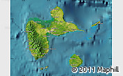 Satellite Map of Guadeloupe