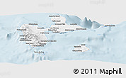 Classic Style Panoramic Map of Guadeloupe