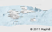Gray Panoramic Map of Guadeloupe