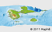 Physical Panoramic Map of Guadeloupe