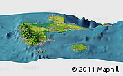 Satellite Panoramic Map of Guadeloupe