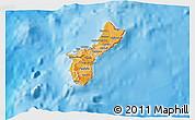 Political Shades 3D Map of Guam