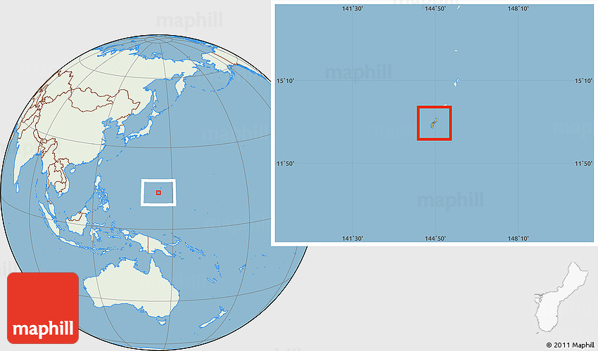Savanna style location map of guam lighten land only 2d gumiabroncs Images