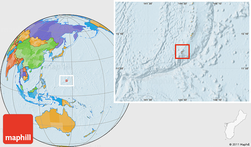 Where Is Guam Located On A World Map - CYNDIIMENNA