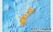 Political Shades Map of Guam
