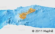 Political Shades Panoramic Map of Guam