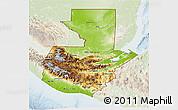Physical 3D Map of Guatemala, lighten