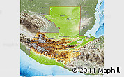 Physical 3D Map of Guatemala, semi-desaturated, land only