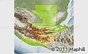 Physical 3D Map of Guatemala, semi-desaturated
