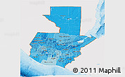 Political Shades 3D Map of Guatemala, single color outside
