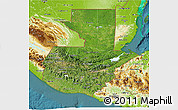 Satellite 3D Map of Guatemala, physical outside, satellite sea
