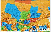 Political 3D Map of Alta Verapaz