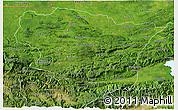 Satellite 3D Map of Alta Verapaz