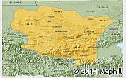 Savanna Style 3D Map of Alta Verapaz