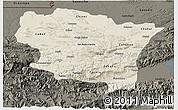Shaded Relief 3D Map of Alta Verapaz, darken