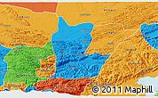 Political 3D Map of Cahabon