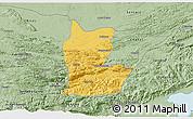 Savanna Style 3D Map of Cahabon