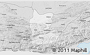 Silver Style 3D Map of Cahabon