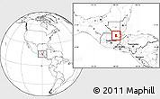 Blank Location Map of Cahabon