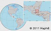 Gray Location Map of Cahabon