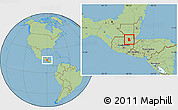 Savanna Style Location Map of Cahabon