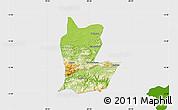 Physical Map of Cahabon, single color outside