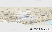 Classic Style Panoramic Map of Cahabon