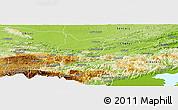 Physical Panoramic Map of Cahabon