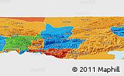 Political Panoramic Map of Cahabon
