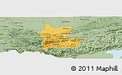 Savanna Style Panoramic Map of Cahabon