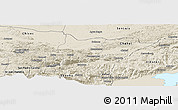 Shaded Relief Panoramic Map of Cahabon