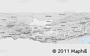 Silver Style Panoramic Map of Cahabon