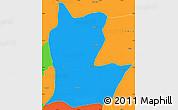 Political Simple Map of Cahabon