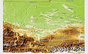 Physical 3D Map of Coban
