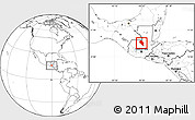 Blank Location Map of Coban