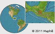 Satellite Location Map of Coban