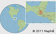 Savanna Style Location Map of Coban
