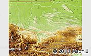 Physical Map of Coban