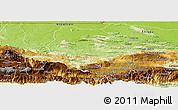 Physical Panoramic Map of Coban