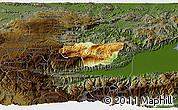 Physical 3D Map of Senahu, darken