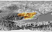 Physical 3D Map of Senahu, desaturated