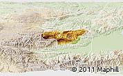 Physical 3D Map of Senahu, lighten