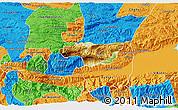 Physical 3D Map of Senahu, political outside