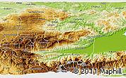 Physical 3D Map of Senahu