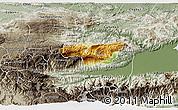 Physical 3D Map of Senahu, semi-desaturated