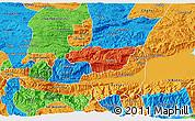 Political 3D Map of Senahu