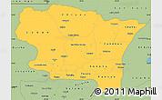 Savanna Style Simple Map of Alta Verapaz
